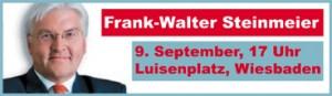 Frank-Walter Steinmeier am 9. September in Wiesbaden