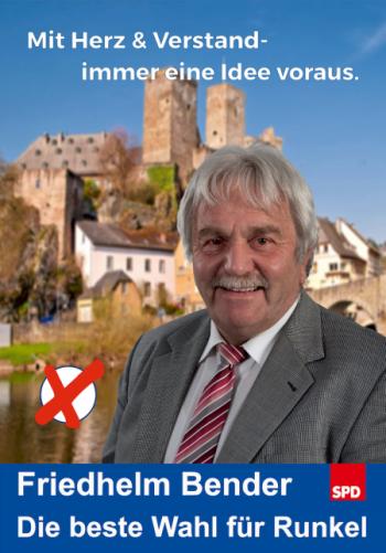 Friedhelm Bender vor der Burg Runkel
