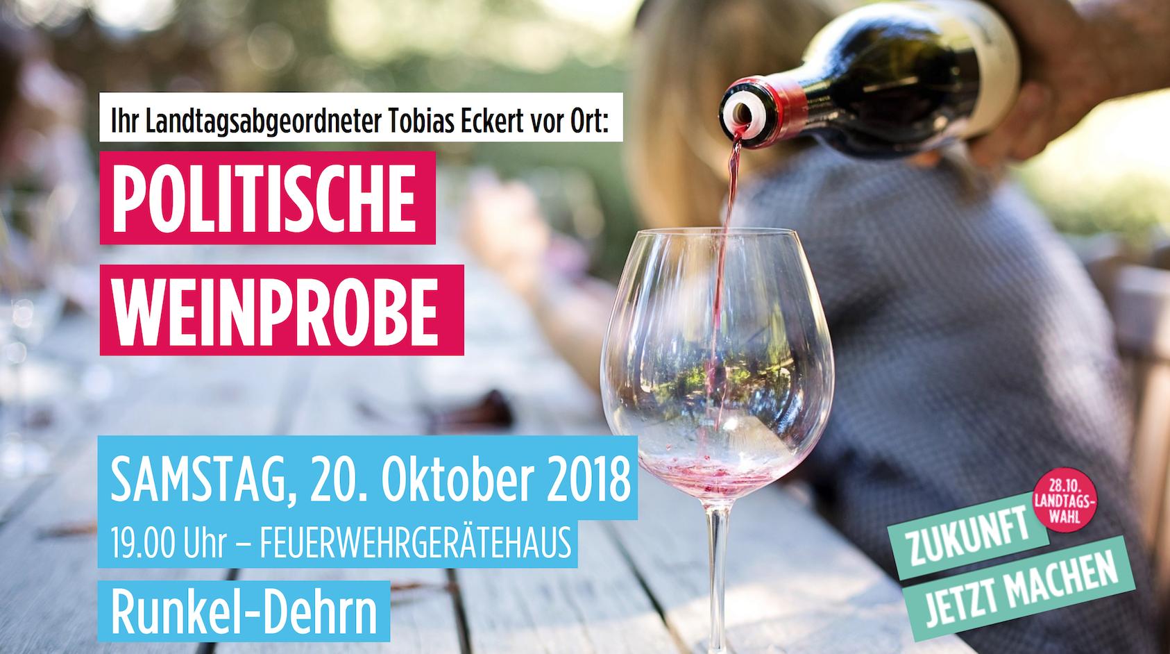 Politische Weinprobe mit Tobias Eckert
