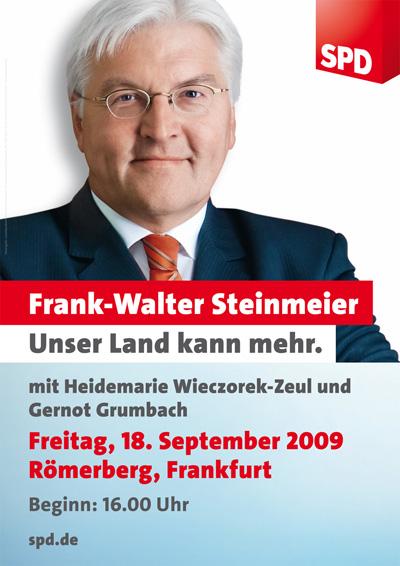 Frank-Walter Steinmeier am 18. September in Frankfurt