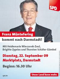 Franz Müntefering in Darmstadt